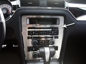 Center Dash Trim Overlay For 2010-2014 Ford Mustang (Main)