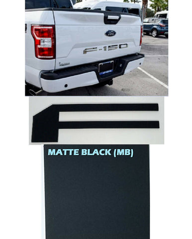 Tailgate Letter Inserts for 2018-2019 Ford F150 - Matte Black