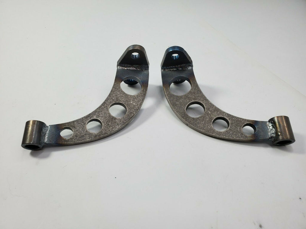 Pair of Headlight Stands / Mounts For Hot Rods (Custom Steel Frame Mounts) - Drilled 3