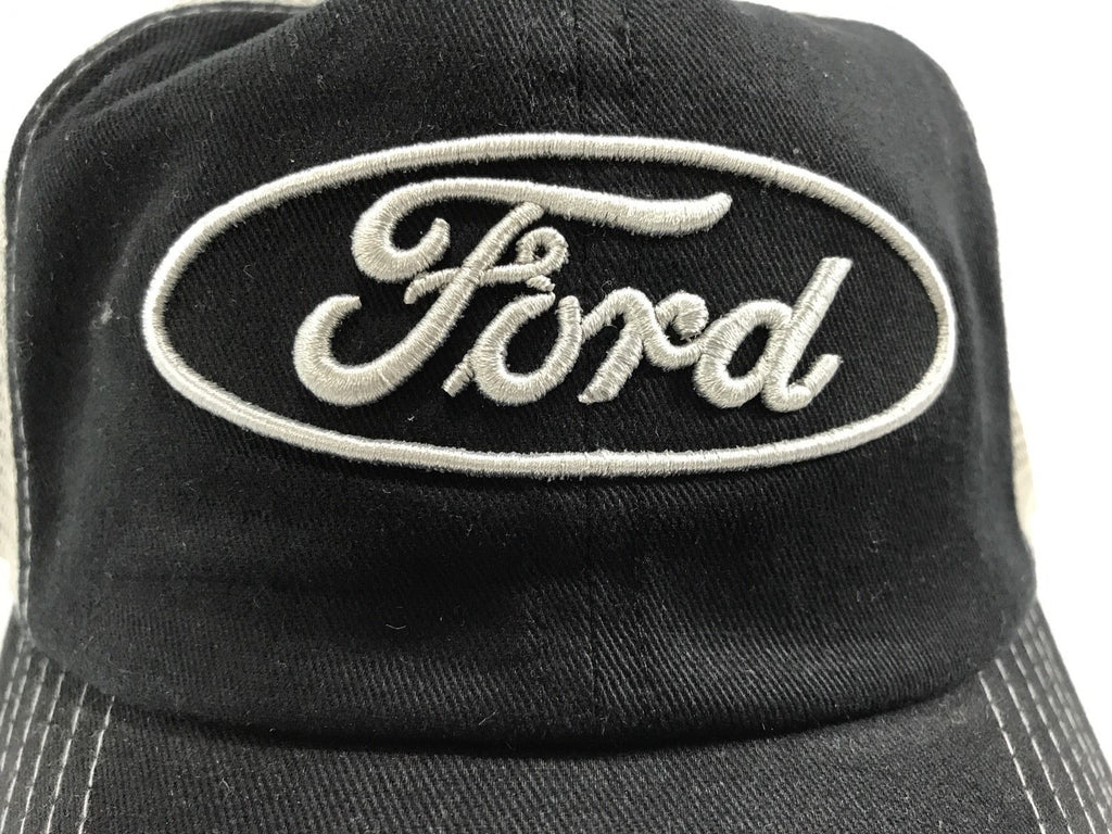 Ford Emblem Hat - Black Front with Grey Mesh Backing (Logo)