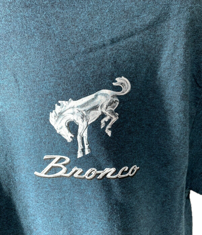 "Image of Ford Bronco T-Shirt ""Hit the Off Road"" Scene w/ Script Emblem - Midnight Blue-Live Fast Supply Company"