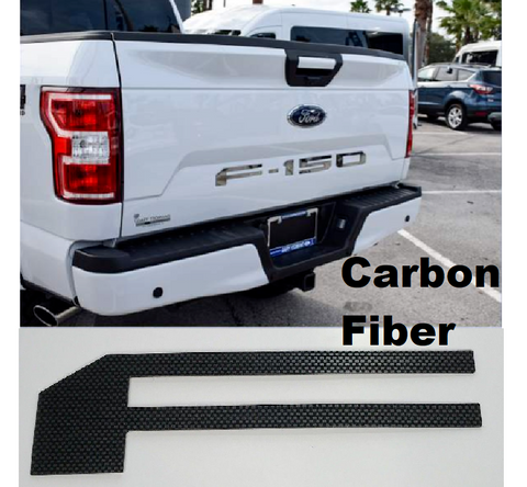 Tailgate Letter Inserts for 2018-2019 Ford F150 - Carbon Fiber
