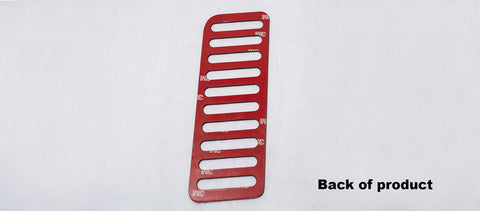 Image of Dead Pedal Foot Rest Trim For 2015-2017 Ford Mustang (Back)