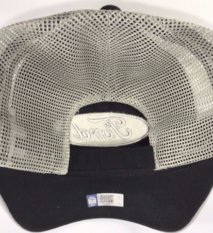 Image of Ford Emblem Hat - Black Front with Grey Mesh Backing (Back)