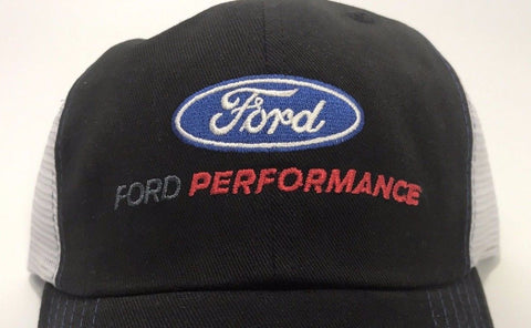 Ford Performance Hat with Blue Oval Logo Emblem (Side)