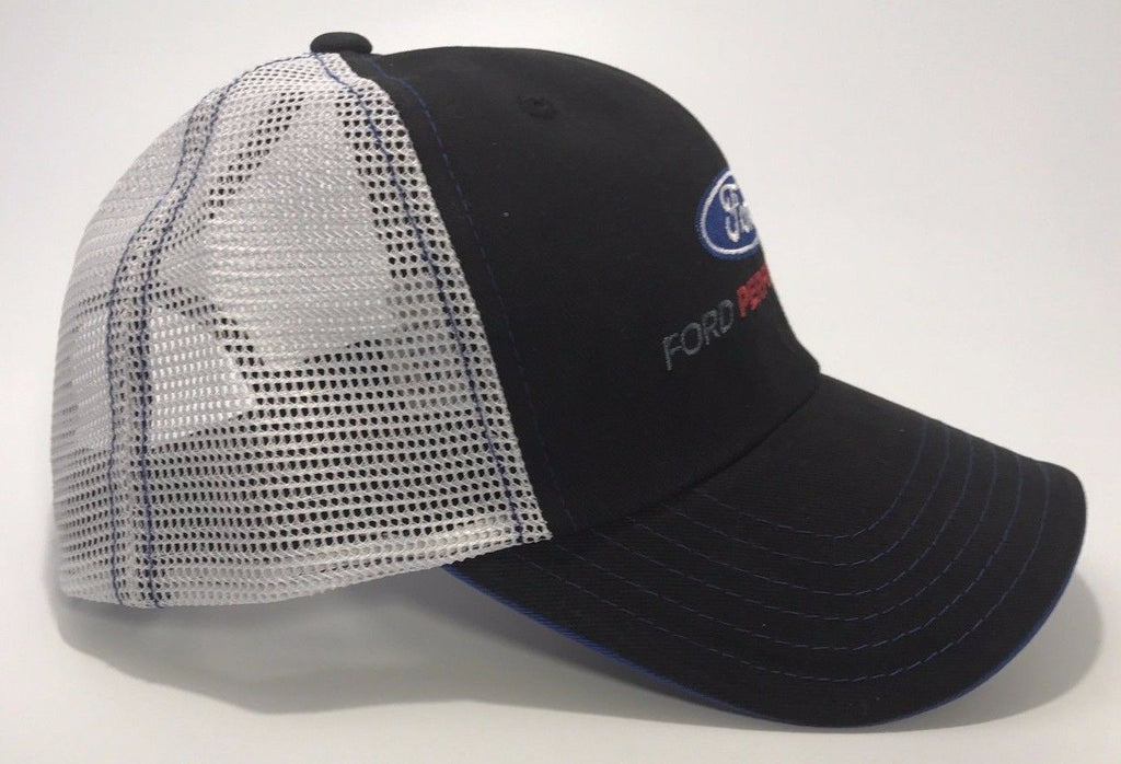 Ford Performance Hat with Blue Oval Logo Emblem (Top)