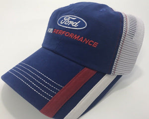 Ford Performance Hat - Blue Bill with White Mesh Backing (Front)