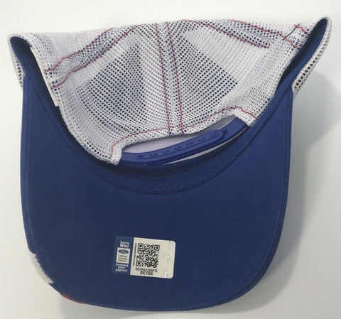 Ford Performance Hat - Blue Bill with White Mesh Backing (Back)