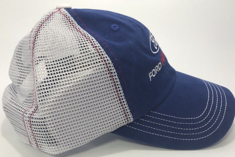Image of Ford Performance Hat - Blue Bill with White Mesh Backing (Bottom)