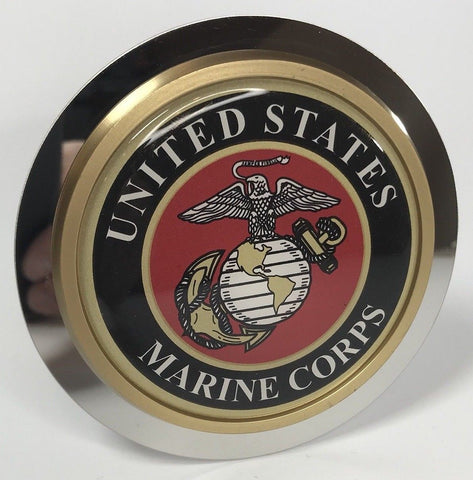 Image of United States Marines Emblem Tow Hitch Cover (Front)