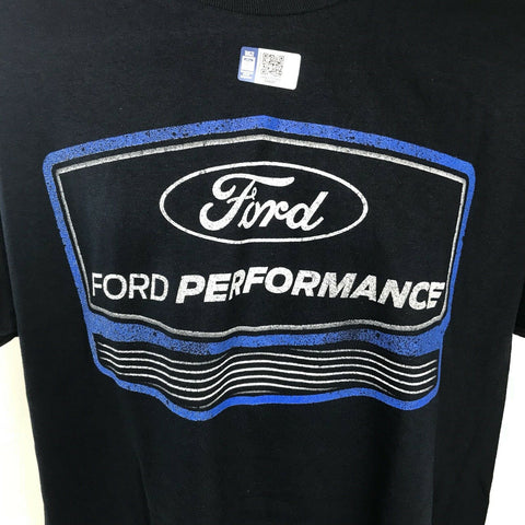 Ford Performance T Shirt - Navy Blue with Logo - Logo