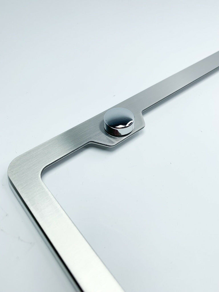 GT 350 Mustang Ford Stainless Steel License Plate Frame Rust Free W// Bolt Caps