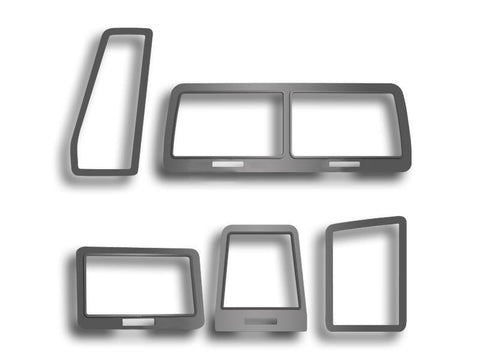 Steel Vent Dash Trim for 2008-2014 Dodge Challenger RT SRT - Brushed Stainless (Set/5)