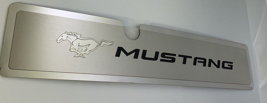 2015-2017 Mustang GT Radiator Cover Plate - Black Pony Emblem - Main