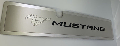 Image of 2015-2017 Mustang GT Radiator Cover Plate - Black Pony Emblem - Main