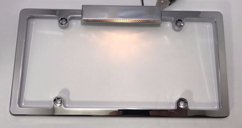License Plate Frame with Light - Chrome (Main)