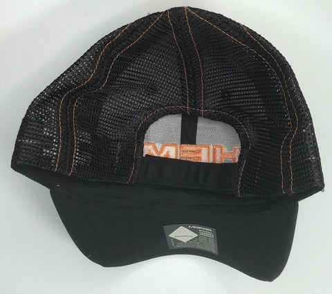 Image of Mopar Hat - Dodge Hemi Logo Black and Orange Mesh (Back)
