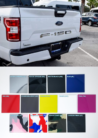 Image of Tailgate Letter Inserts for 2018-2019 Ford F150 - Choose Color