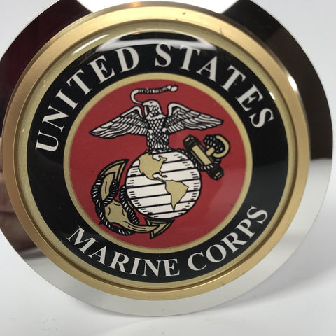 Image of United States Marines Emblem Tow Hitch Cover (Top)
