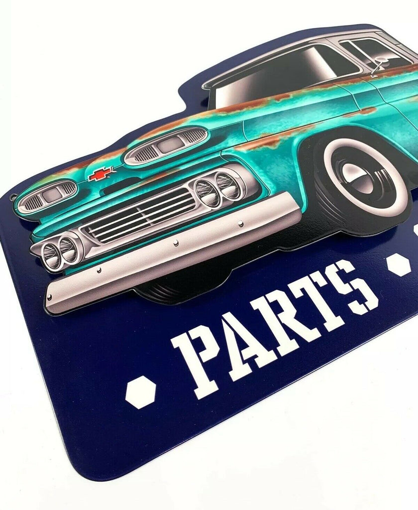 1960 Chevy C10 Pickup Truck Parts & Service Metal Sign - Last