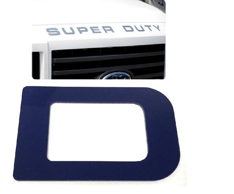Hood Letter Inserts For 2008-16 Ford F250 Super Duty - Blue