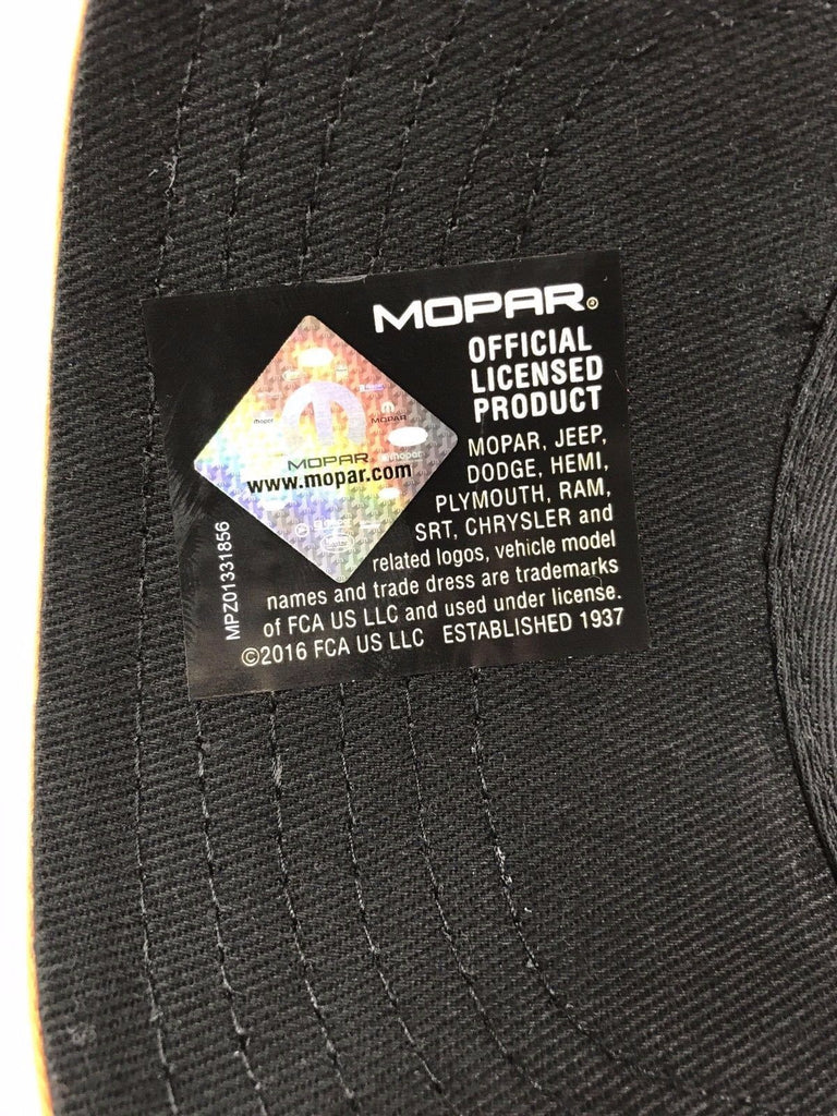 Mopar Hat - Hemi Script on Black with White Mesh (Tag)