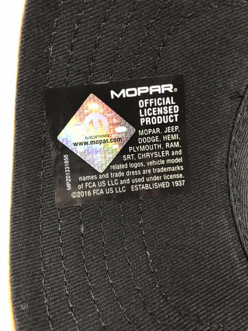 Image of  Mopar Hat - Hemi Script on Black with White Mesh (Tag)