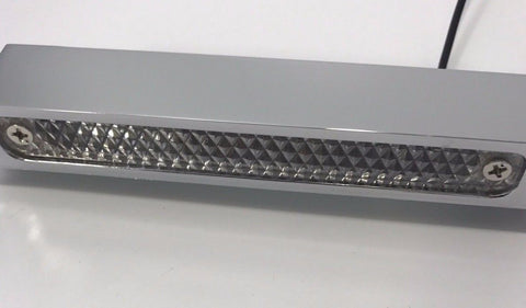 Image of License Plate Frame with Light - Chrome (Center)