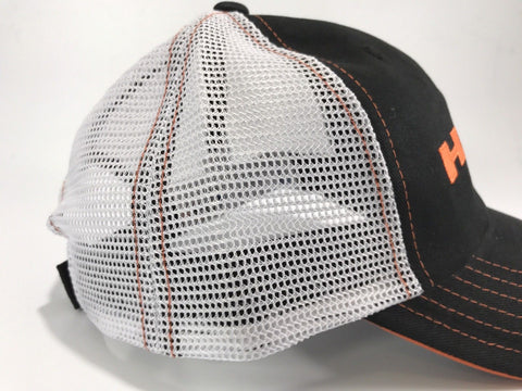 Image of  Mopar Hat - Hemi Script on Black with White Mesh (Side)