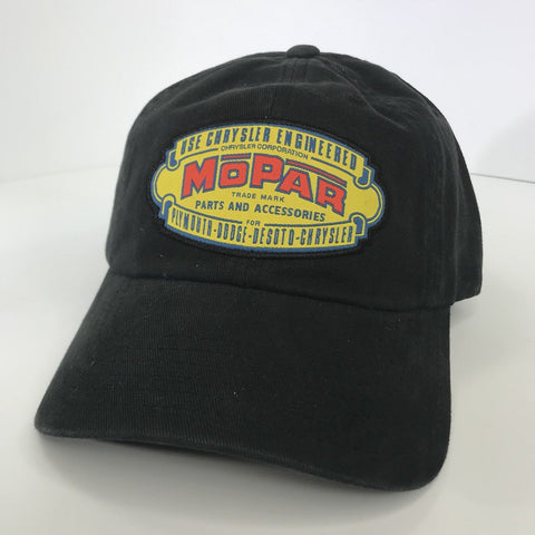Image of Mopar Hat - Black with 1937 Logo / Emblem (Front)
