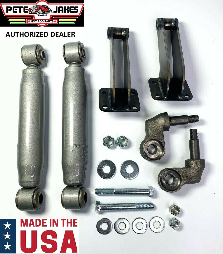 Painted Bolt-On Front Shock Kit For 1928-1931 Model A & 1932 Ford - Made In USA-Live Fast Supply Company