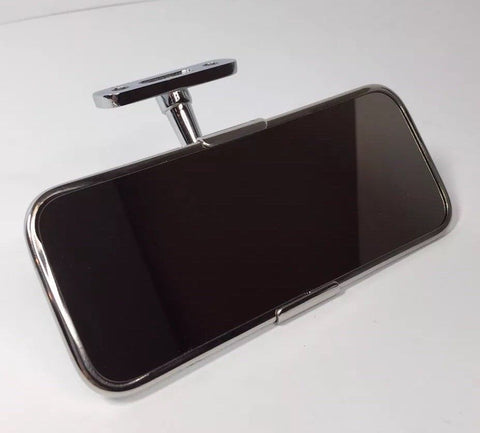 Image of Hot Rod Interior Rearview Mirror - Stainless Steel (Front)
