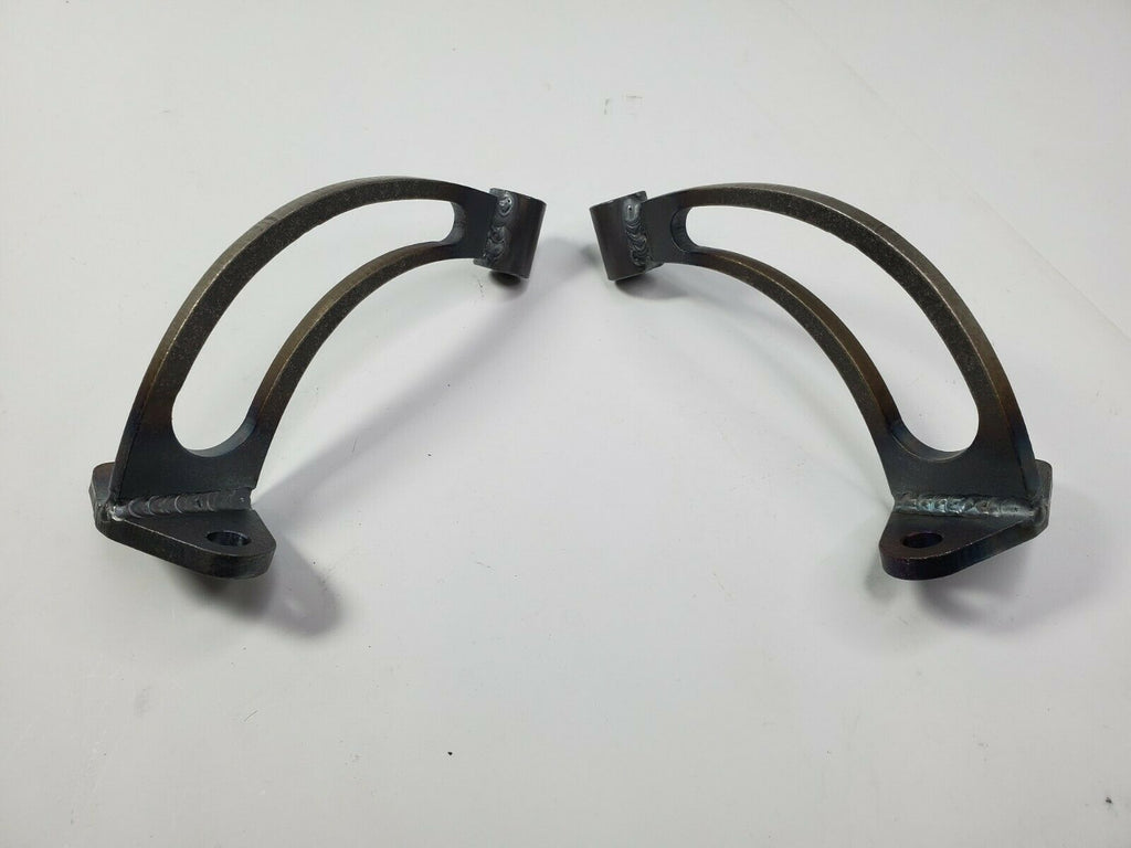 Pair of Headlight Stands / Mounts For Hot Rods (Custom Steel Frame Mounts) - Slotted 2