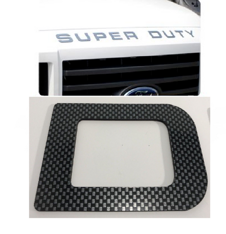Image of Hood Letter Inserts For 2008-16 Ford F250 Super Duty - Carbon Fiber