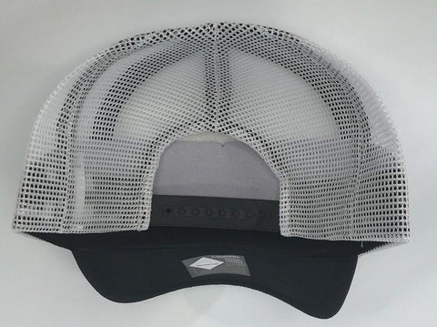Image of Mopar Hat - Padded White Trucker with Logo / Emblem (Back)