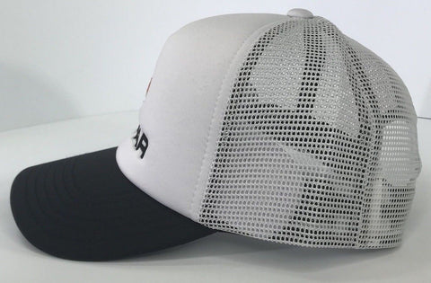 Image of Mopar Hat - Padded White Trucker with Logo / Emblem (Side)