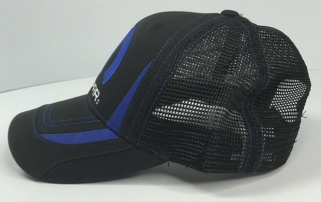 Mopar Hat - Black & Blue Trucker with Logo / Emblem (Side)