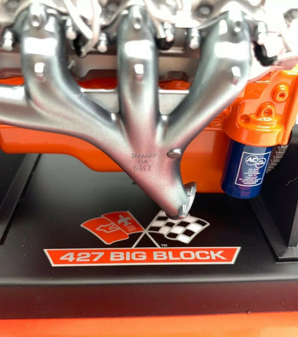 Image of Big Block Chevy 427 V8 Model Engine - Diecast 1:6 Scale Motor Replica-Live Fast Supply Company