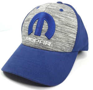 Mopar Hat - Grey & Blue with M Emblem / Logo (Front)