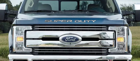 Ford Super Duty Letter Inserts - 2017-19 F250 Hood Inserts - Front