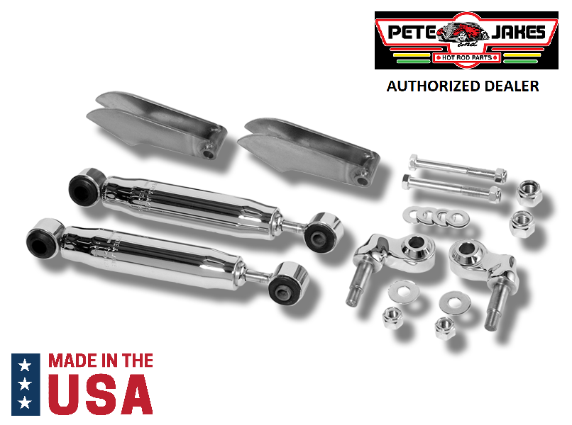 Chrome Weld-On Front Shock Kit For 1928-1931 Model A & 1932 Ford - Made In USA-Live Fast Supply Company