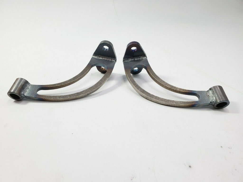 Pair of Headlight Stands / Mounts For Hot Rods (Custom Steel Frame Mounts) - Slotted 3