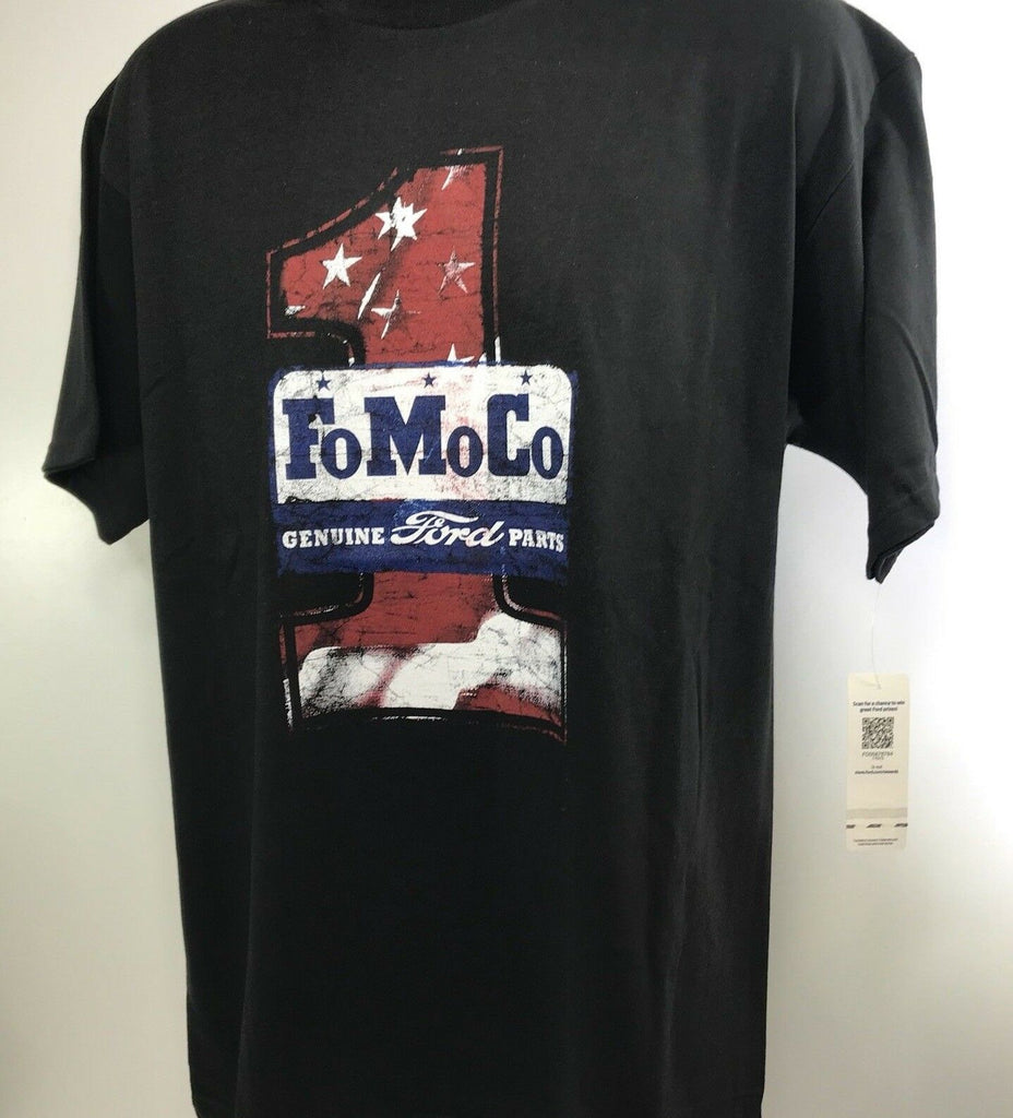 Ford T Shirt - Black with FoMoCo Genuine Ford Parts Logo - Main