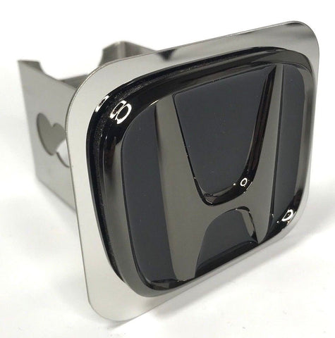 Image of Honda Tow Hitch Cover - Black Emblem 2 Inch Receiver (Front)