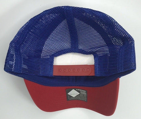 Image of Mopar Hat - Padded Trucker with Logo / Emblem (Back)