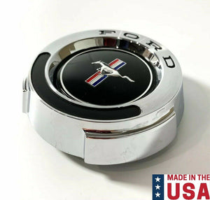 Chrome T-5 Pony Emblem Gas Cap w/ Cable For 1965-1966 Ford Mustang-Live Fast Supply Company