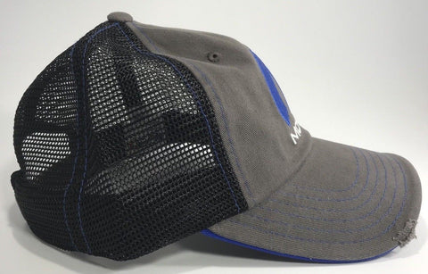 Image of Mopar Hat - Distressed Bill with Logo / Emblem (Side)
