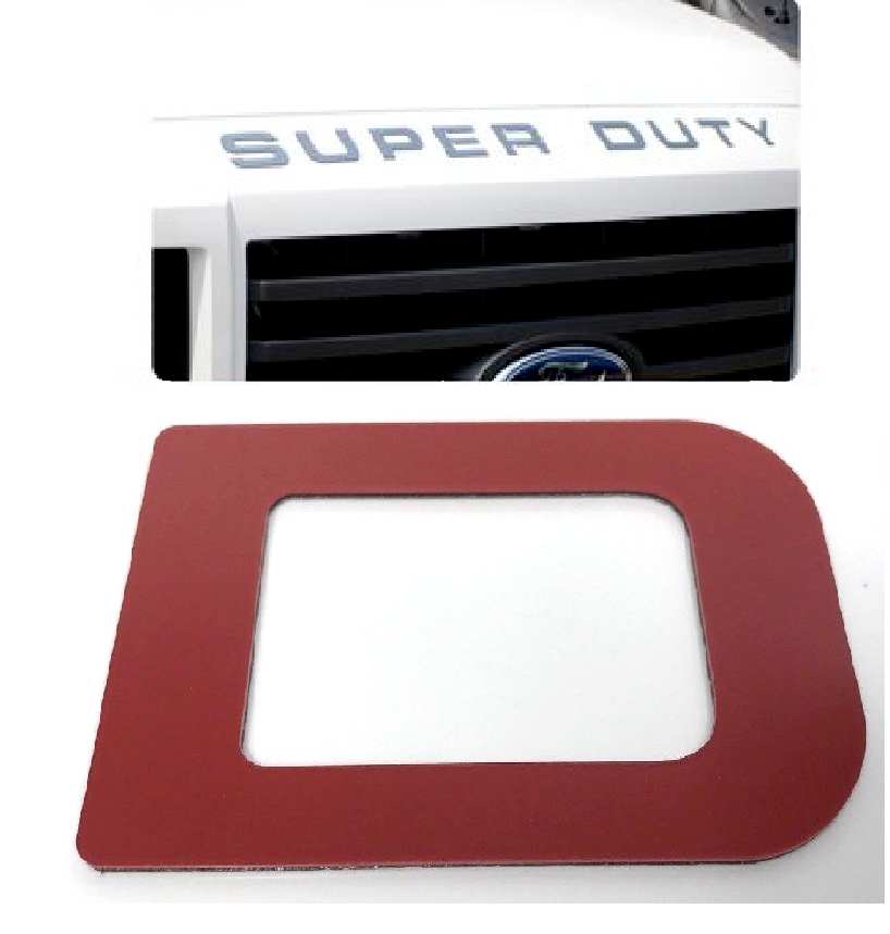 Hood Letter Inserts For 2008-16 Ford F250 Super Duty - Red