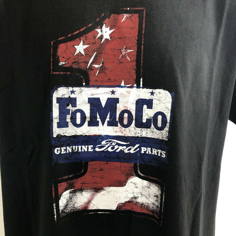 Image of Ford T Shirt - Black with FoMoCo Genuine Ford Parts Logo - Emblem