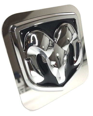 Image of Dodge Ram Emblem Logo Tow Hitch Cover - Black (Front)